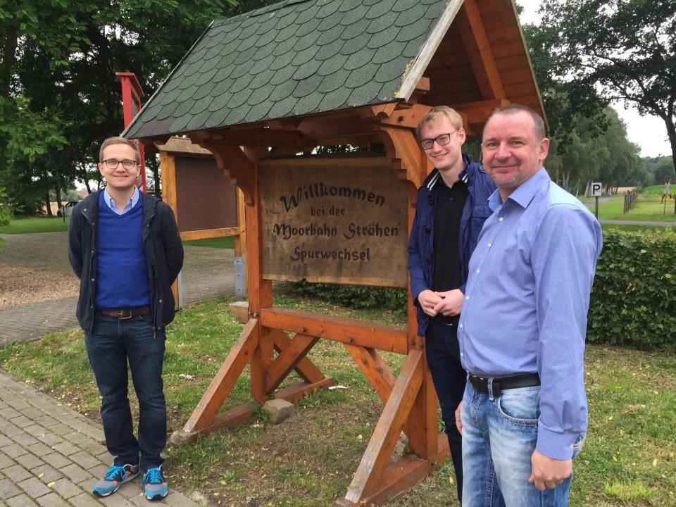 Felix Blaschzyk, Finn Kortkamp und Staphan Kawemeyer